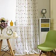 zwei Platten modernen Polka Dots lila gelbe Schlafzimmer Polyesterflächenvorhänge Vorhänge