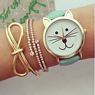 Women Watches, Kitty Watch, Cat Watch,Vintage Leather Watch, Jewelry Handmade, Bracelet  Wrist Watch Cool Watches Unique Watches Fashion Watch