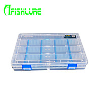 Afishlure Fishing Tackle Boxes 4 Rows Blade Lure Box Waterproof 1 Tray 25cm * 18cm * 4cm Hard Plastic Case