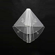 Wedding Veil Two-tier Blusher Veils / Shoulder Veils / Elbow Veils / Fingertip Veils Beaded Edge