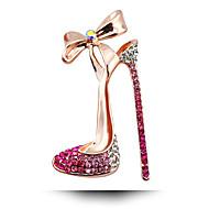 South Korean Wedding Diamond Brooch Bow High-Heeled Shoes