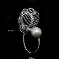 Women's Imitation Pearl Brooch Silver