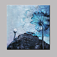 Hand-Painted Landscape Blue Floral Botanical Modern Oil Paintings On Canvas Wall Picture Ready to Hang