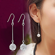Férfi Női Függők Kristály utánzat Diamond Divat Klasszikus luxus ékszer Ezüst Kristály Hamis gyémánt Ékszerek KompatibilitásEsküvő Parti