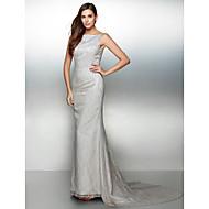 레이스와 TS couture® 공식적인 이브닝 드레스 트럼펫 / 인어 BATEAU 법원 기차 레이스