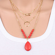 Lucky 8 word Turquoise Necklace multi drop