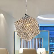 Moderno / Contemporáneo Cristal / LED Cromo Metal Lámparas ColgantesSala de estar / Dormitorio / Comedor / Habitación de estudio/Oficina