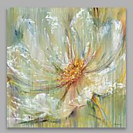 Handgeschilderde Bloemenmotief/BotanischModern Eén paneel Canvas Hang-geschilderd olieverfschilderij For Huisdecoratie