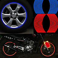 Mode reflektierende Randstreifenband Fahrrad Motorrad Polyethylenterephthalat Rad Sticker Autozubehör