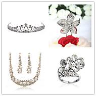 Wedding Suit(Headdress & Necklace & Earrings& Ring & Cake Topper)