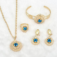 WesternRain Wedding jewelry Women's Alloy / Rhinestone Jewelry Set Rhinestone