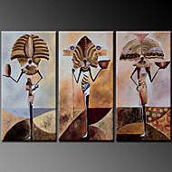 Peint à la main Portraits AbstraitsModern Trois Panneaux Toile Peinture à l'huile Hang-peint For Décoration d'intérieur