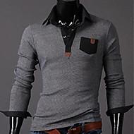 Herren-Farbabstimmung Hemdkragen Polo-T-Shirt