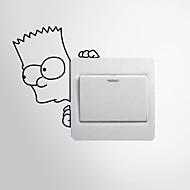 Desenho Animado / Romance / Moda / Formas / Pessoas / Fantasia Wall Stickers Autocolantes 3D para Parede , PVC 14cm x 12cm( 6in x 5in )
