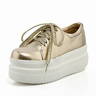 Women's Shoes Platform Creepers/Round Toe Fashion Sneakers Office & Career/Casual Black/Silver/Gold