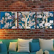 Botânico Impressão em tela 3 Painéis Pronto para pendurar , Quadrada