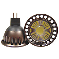 5W GU5.3(MR16) תאורת ספוט לד R63 1 COB 400 lm לבן חם / לבן קר דקורטיבי DC 12 / AC 12 / AC 110-130 V חלק 1