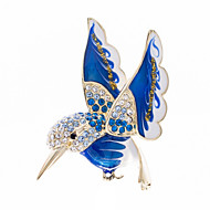 Hummingbird Brooches Pins Broaches for Women Jewelry Accessories with Crystals Enamel