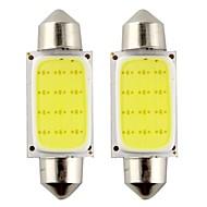 2PCS는 39mm 3w 240LM 6000K 속 램프를 읽고 / 자동차 스티어링 전구 흰색 빛을 주도 꽃줄 (DC12V)