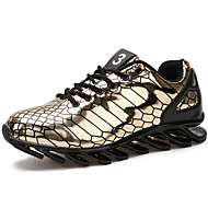 Men's Running Shoes Leather Black / Silver / Gold