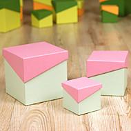 Geschenk Schachteln ( Orange / Himmelblau / Fuchsia / Gelb / Grün / Rosa , Kartonpapier ) - Nicht personalisiert -Hochzeit / Jubliläum /