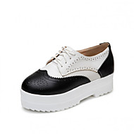 Women's Shoes  Platform Creepers / Round Toe Oxfords Outdoor / Dress / Casual Black / Silver