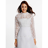 Wedding  Wraps Coats/Jackets Long Sleeve Lace White Wedding / Party/Evening Lace Zipper / Clasp