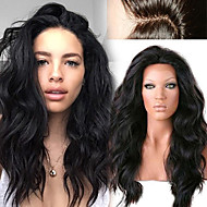 """não processado 12 """"-26"""" de cabelo humano natural onda solta peruca cheia do laço do cabelo humano rendas frente perucas peruanas"""