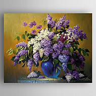 Ručně malované Květinový/Botanický motivModerní / Realismus Jeden panel Plátno Hang-malované olejomalba For Home dekorace