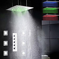 Shower Faucet Contemporary LED / Rain Shower / Sidespray / Handshower Included Brass Chrome