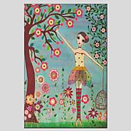 Ritratti / Botanical Print Canvas Un pannello Pronto da appendere , Orizzontale