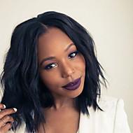 non transformés vierge perruque bob cheveux humains pour les femmes noires de 10 '' - 18 '' natual devant de dentelle de coupe ondes