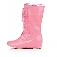 Women's / Men's / Boy's / Girl's Spring / Summer / Fall / Winter Rain Boots Leatherette Outdoor / Casual Flat Heel Black / Pink / Beige