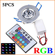 5Pcs MORSEN® 3W Super Bright Recessed  RGB  Remote Control  LED  Downlight   Spot Light LED Decoration Ceiling Lamp
