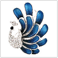 Alloy / Rhinestone Brooch /Women Peacock Brooch /Wedding / Party 1pc