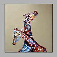 Single Modern Abstract Pure Hand Draw Decorative Ready To Hang  The Giraffe Oil Painting