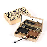 1Pcs A Leopard Cat Genuine Smart Shine Stereo Color Eyebrow Waterproof Easy To Color Makeup