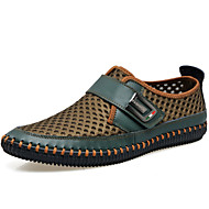 Men's Shoes Outdoor / Office & Career / Athletic / Dress / Casual Leather / Tulle Loafers Brown / Green / Gray