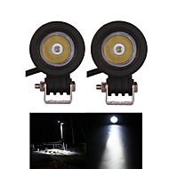 2PCS 크리어 10w 오프로드 작업 가벼운 자리 오토바이 헤드 라이트 12V의 24V 트럭 보트 suvatv 4WD 빛 안개 램프를 구동 주도