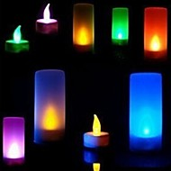 Voice Control 7 Colors Change Battery Operated LED Candle Light