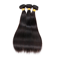 "Human Hair Extension Pruiken 3 bundel / 150g 100% onbewerkte Peruviaanse Straight Soft Human Hair Extension 16 ""x3"
