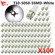 100 x blå blå is röd grön gul vit rosa T10 / 921/912 inomhus / registreringsskylt SMD glödlampor 5050 5-ledda