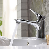 Brass Chrome Finish Bathroom Sink Faucet Single Handle Tap