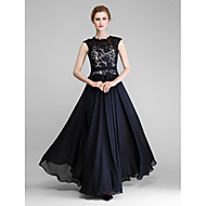 Lanting Bride® A-line Mother of the Bride Dress Floor-length Sleeveless Chiffon / Lace with Lace
