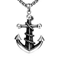Anchor Restoring Ancient Ways is Exaggerated Men Titanium Steel Pendant Necklace Christmas Gifts