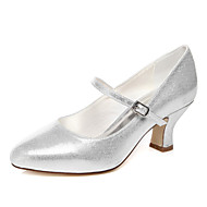 Women's wedding shoes with silver / Champagne