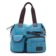 Women PU / Canvas Hobo Shoulder Bag / Tote / Satchel - Pink / Blue / Brown / Red / Gray / Black / Khaki / Burgundy