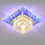 14CM Mini Crystal Ceiling Lamp Spotlight LED 3W Creative Lamp Tube Light Colorful Color Square Dome Light