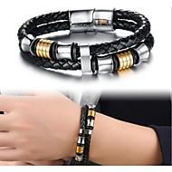 Magnetic buckle leather woven Bracelet 18.5CM/20.5CM/22CM