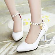 Women's Shoes Heel Heels / Pointed Toe Heels Office & Career / Dress / Casual Black / Red / White / Almond/229-1
